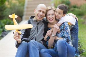 família feliz e hobby foto