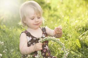 coroa de fadas da criança foto