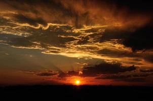 céu do sol