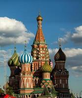 Moscou, st. catedral de manjericão foto