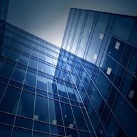 moderno centro de negócios de vidro foto
