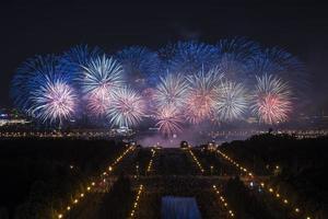 fogos de artifício sobre Moscou