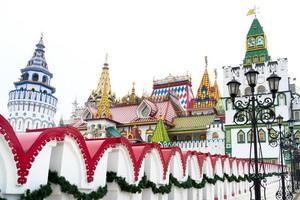 bela vista do kremlin em izmailovo, moscou, rússia foto