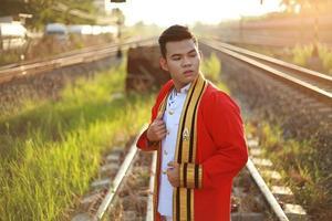 o homem tailandês comum foto