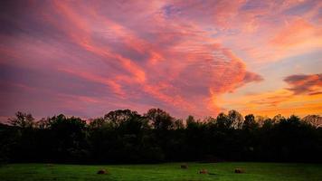 campo ao pôr do sol