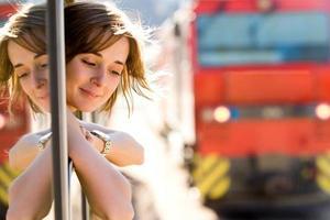 viajante do sexo feminino foto