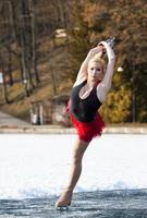 patinação no gelo feminino atraente