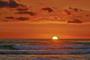 pôr do sol do Pacífico impressionista
