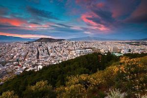 Atenas da colina lycabettus. foto