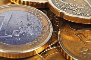 moedas de euro dinheiro foto