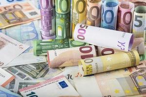 fundo de dinheiro europeu foto