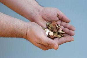 mãos: dinheiro foto