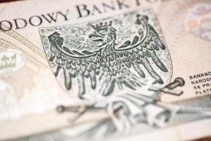 reversão de cem zloty polonês foto