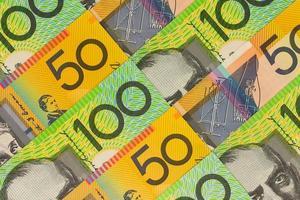 moeda australiana - notas de cento e cinquenta dólares foto