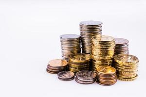 dinheiro. as moedas. foto