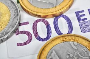 dinheiro de notas de euro foto