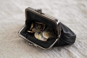 dinheiro, finanças. moedas de euro foto