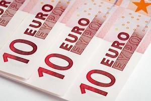 notas de euro. conceitos de dinheiro foto