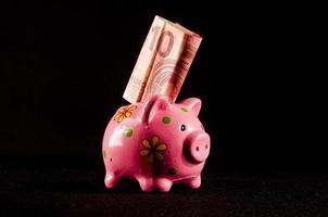ideia de conceito de dinheiro de negócios foto