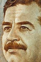dinheiro iraque saddam hussein foto