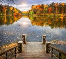 lagoa do outono foto
