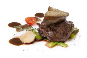 foie gras cozido foto