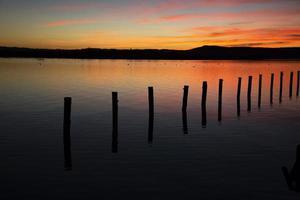 crepúsculo do sol foto
