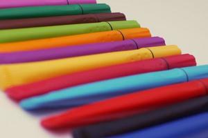 caneta colorida foto