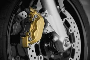 freio a disco da motocicleta foto