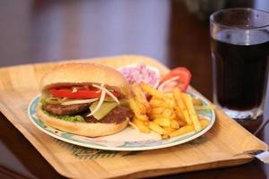 menu de hambúrguer foto
