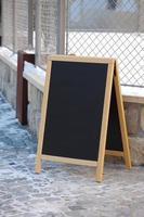 placa do menu foto