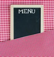 lousa de cartão de menu foto