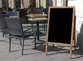 placa do menu vazio foto