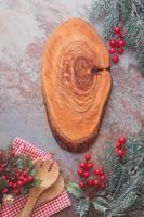 placa do menu de natal foto