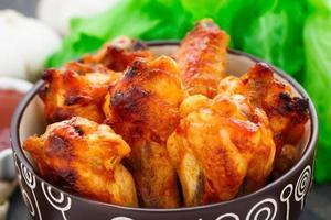asas de frango foto