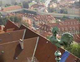 telhados de Praga foto