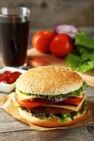 hambúrguer fresco