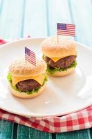 mini hambúrgueres foto