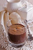 mousse de chocolate foto