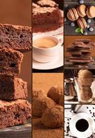 sobremesas de chocolate foto