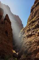 famoso canyon masca em tenerife - canário