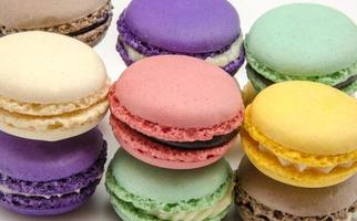 macarons parisienses tradicionais foto