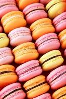 fundo colorido francês macarons foto