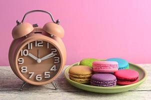 macarons coloridos para os intervalos foto