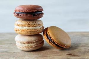 macarons franceses foto