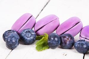 macarons de mirtilo foto