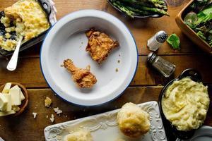 jantar de domingo de frango frito