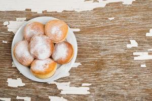 rosquinhas com açúcar de confeiteiro foto