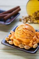 sorvete de chá tailandês foto