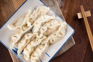 bolinhos cozidos chineses populares foto